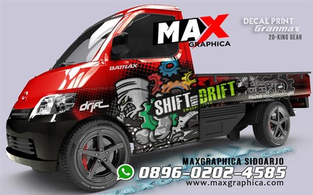 sticker grandmax pickup maxgraphica cutting sticker sidoarjo